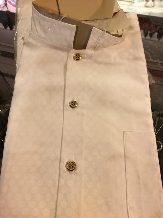 1960s new in package Nehru cotton shirt