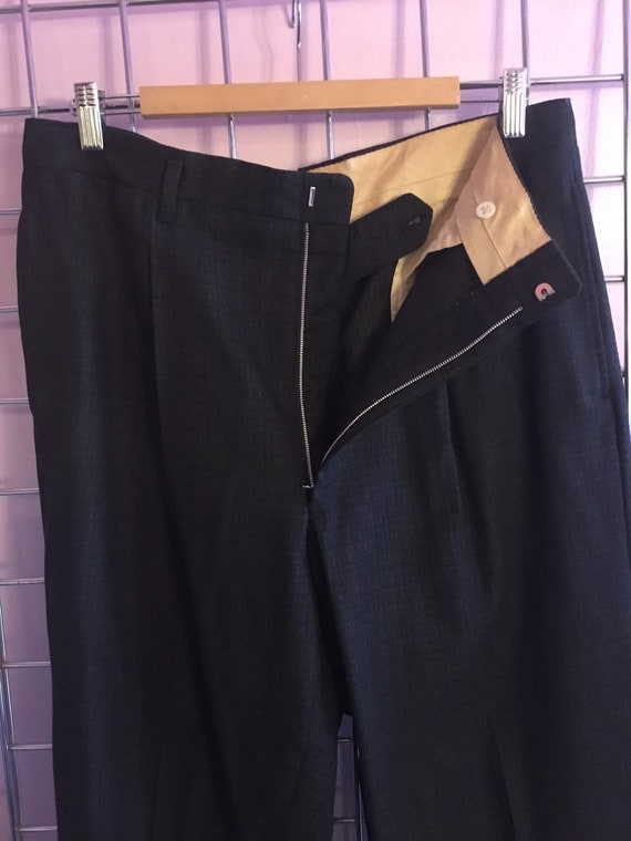 1950s wool single Pleated Trousers