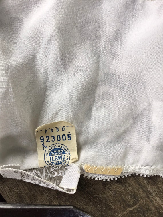 1940s lace and rayon slip/dress - image 5