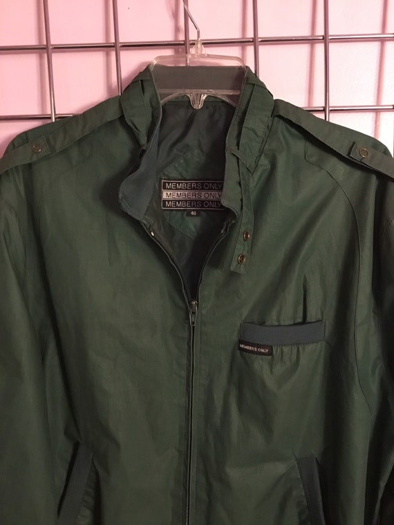Green Members Only Jacket