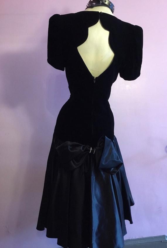 Elegant Velvet and Satin Party dress