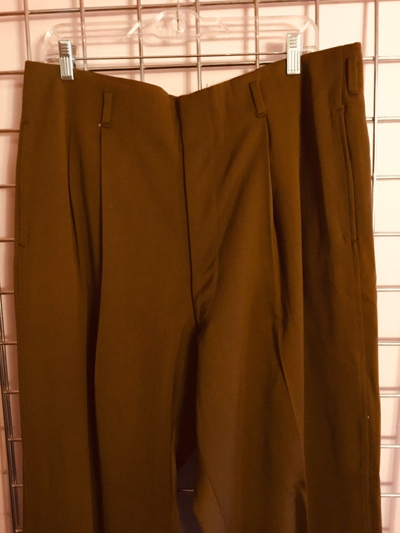 1940s Double Pleated Rayon Gaberdine Pants
