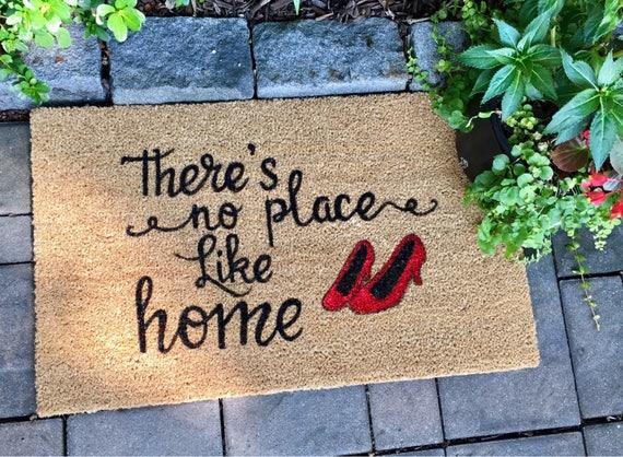Theres No Place Like Home Door Mat Custom Door Mat Etsy