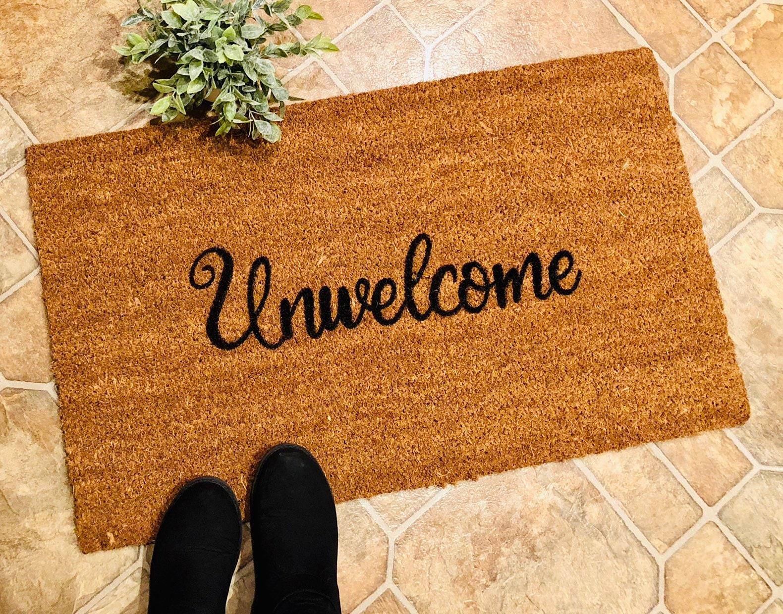 Unwelcome Doormat Doormats With Funny Sayings Outdoor Rug | Etsy