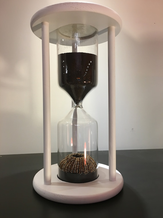Decorative Hourglass Sculpture With Black Sand And Beadwork Etsy - Decorative-hourglass