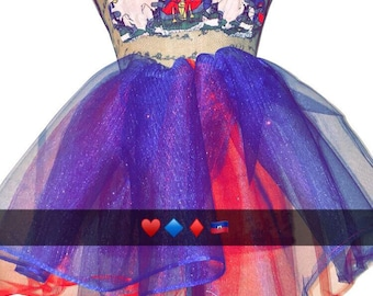 Coat of Arm little girl red and blue tutu set