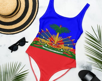 The One piece Blue and Red Haitian Flag