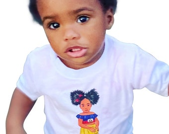 Haitian Princess Toddler Jersey Short Sleeve Tee