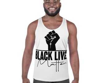 Black Live Matter with Fist Print Unisex Tank Top