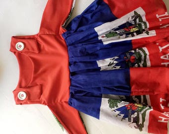 LilGirl Haitian flag Dress