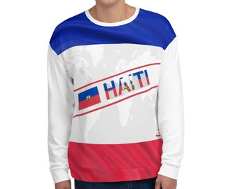 Crossover Haiti Red White and Blue T-shirt