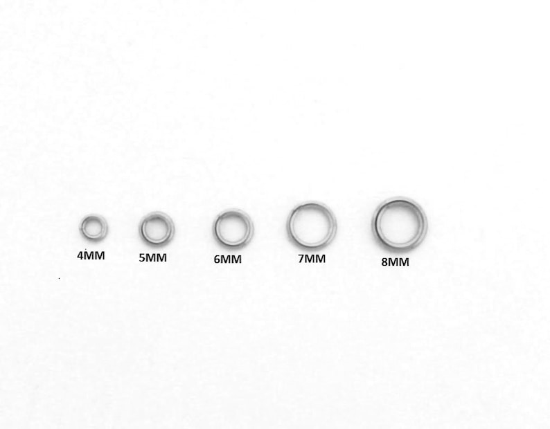 5MM 8MM 6MM Open Jumping Snapping Sterling Silver  4MM 7MM