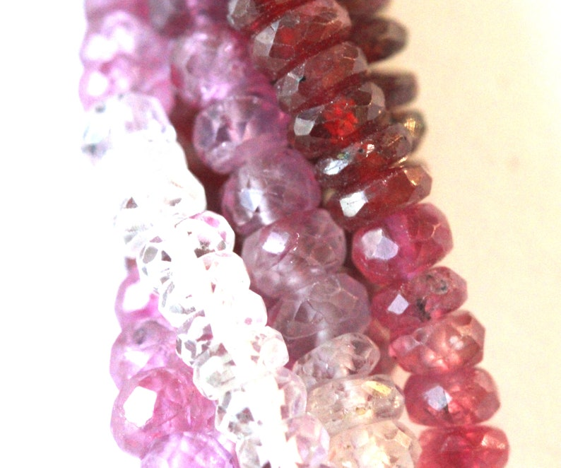 Natural Gemstone Ruby Faceted Roundel Cut