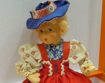Doll vintage anni ' 50 BAITZ Innsbruck Austria