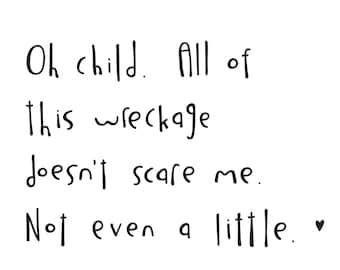 Haiku Art // Oh Child // 8x10