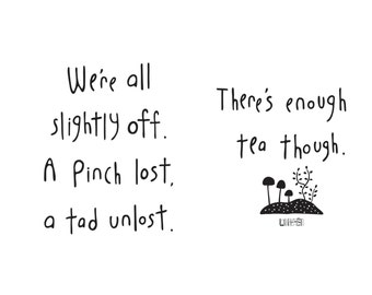 Haiku Art // Enough Tea