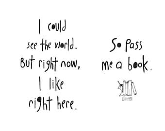 Haiku Art // Pass Me a Book