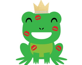 FROG PRINCE set of 25 premium colorful metallic temporary fairy tale inspired magical kids Flash Tattoos-party favors, party decor