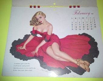 Esquire Glamour Gallery 1952 Pin-up Calendar