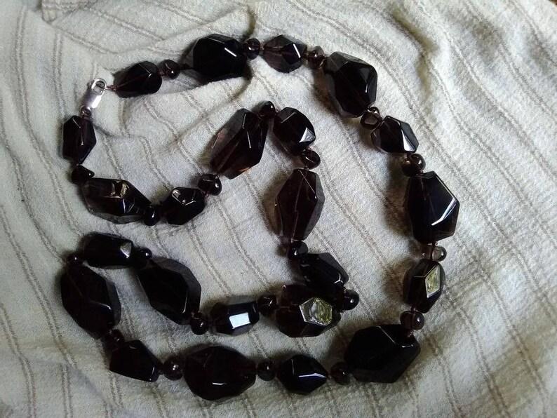 Smoky Quartz Gemstone Necklace