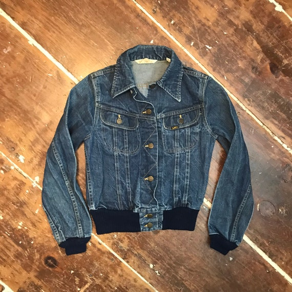 Vintage 70s Lee Riders Denim Jacket |Womens 9/10 S
