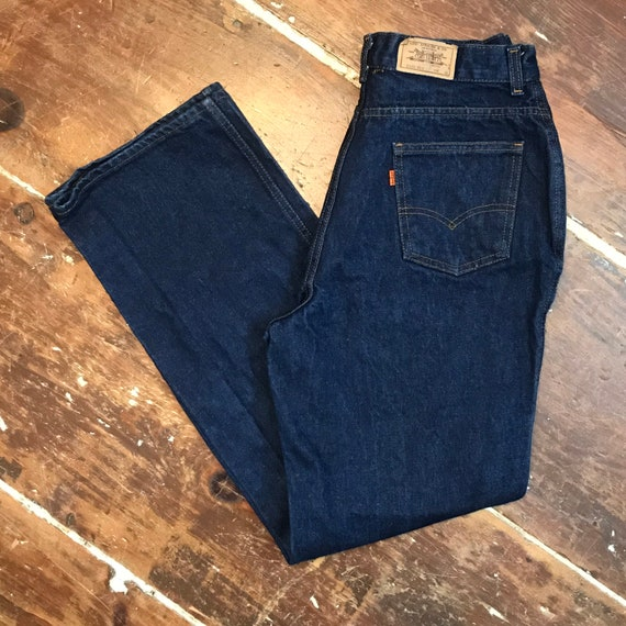 Vintage 70s Levis High Waisted Jeans   Womens 18 D