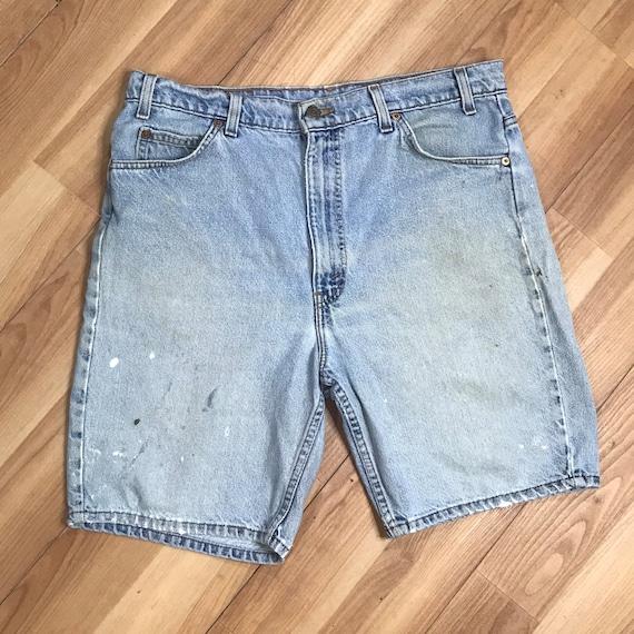 Vintage 90s Levis 505 Denim Shorts | Mens 36 Dist… - image 7