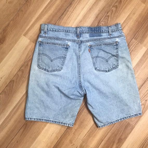 Vintage 90s Levis 505 Denim Shorts | Mens 36 Dist… - image 5