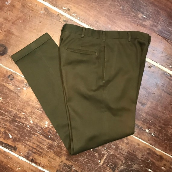Vintage 60s Levis Sta-Prest Cuffed Tapered Bedford