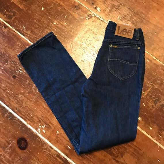 Vintage Lee Riders Womens 28x34 Jeans | 1970s Dark