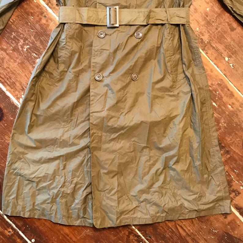 Mens 36 Long Jacket Vintage 60s Vietnam US Military Nylon Rain Trench Coat