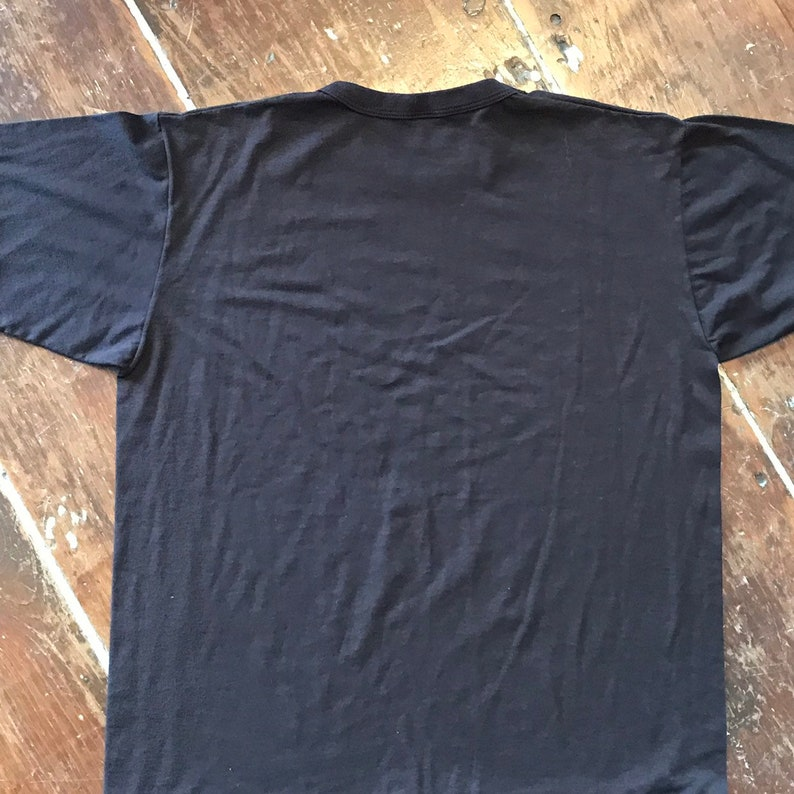 Vintage Russell Athletic Mens Large T-Shirt 1980s Brown 50-50 Poly-Cotton Tee