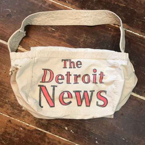Vintage Detroit News Newspaper Newsboy Delivery To