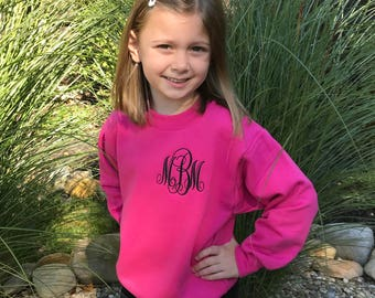 Sweater Personalized Name Hoodie with Hood and Wrap Collar Girls Kids Clothes
