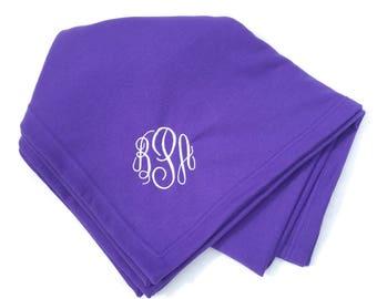 Monogrammed Stadium Blanket-Personalized Stadium Blanket-Sweatshirt Blanket With Monogram-Tailgate Blanket- Embroidered Blanket