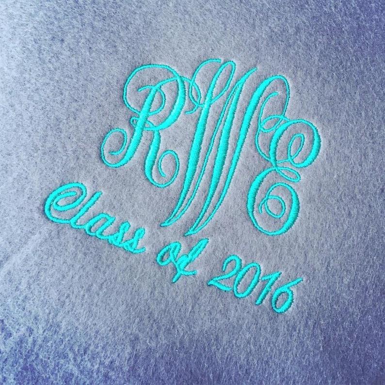 Monogrammed Fleece Blanket Personalized Fleece Blanket