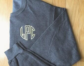 Monogrammed  Sweatshirt- Embroidered Crewneck- Monogrammed Sweatshirt- Personalized Pullover