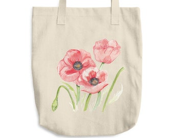 Poppy Cotton Tote Bag *Ship to USA Only*