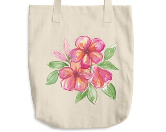 Hibiscus Cotton Tote Bag *Ship to USA Only*
