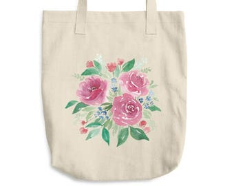 Floral Bouquet Cotton Tote Bag *Ship to USA Only*