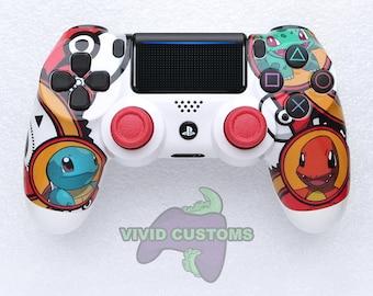Custom PS4 Controller - Sony PlayStation 4 Pro/Slim Version 2 Dualshock Wireless Pad - Pokemon Mod V2