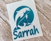Dolphin Decal Dolphin Monogram Dolphin Sticker Decals Sticker Monograms Ocean Life Decals Yeti Cup Decals Marine Decal Dolphin Monogram