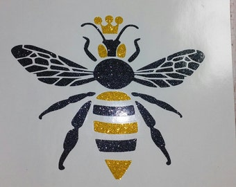 Queen Bee Decal/Initial Sticker/Initial Decals/Initial Monograms/Bee Life/ Decals/Yeti Cup Decals/Monograms/Bee Sticker/Bee Keeper