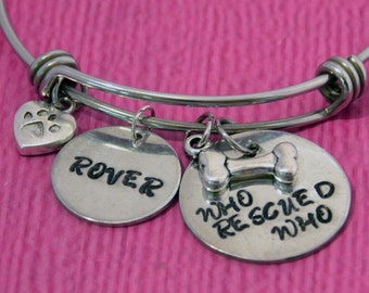 Dog Lover Gift | Dog Lover Bracelet | Dog Owner Gift | Dog Jewelry | Dog Bracelet | Dog lover Jewelry | Pet Lover Gift | Rescue Dog Gift |