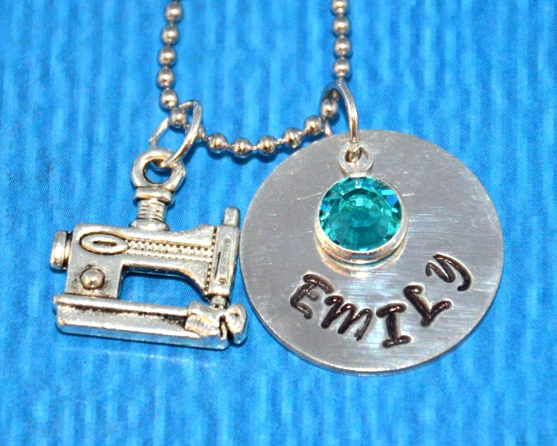 Personalized Girls Necklace Sewing Gift