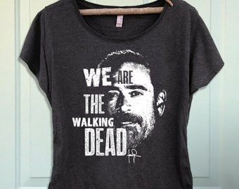 We Are the Walking Dead Negan Women's Dolman Scoop T-shirt- Shirt-Tee-Graphic-TWD