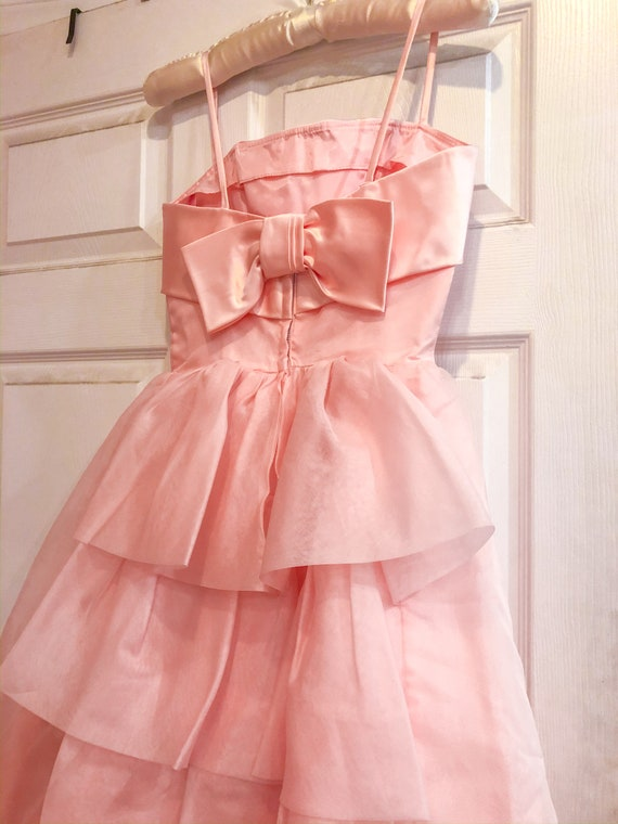 1950's Pink Party Prom Dress - image 2
