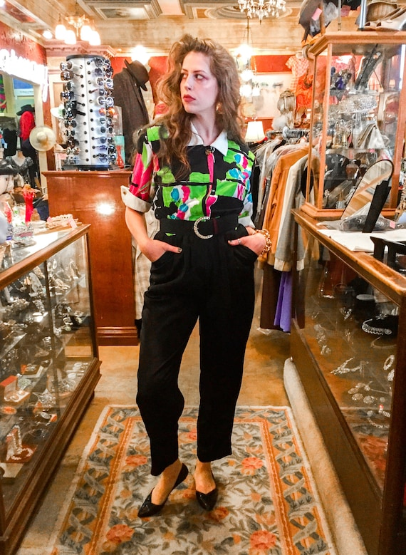 1980's Deadstock Abstract Jumpsuit
