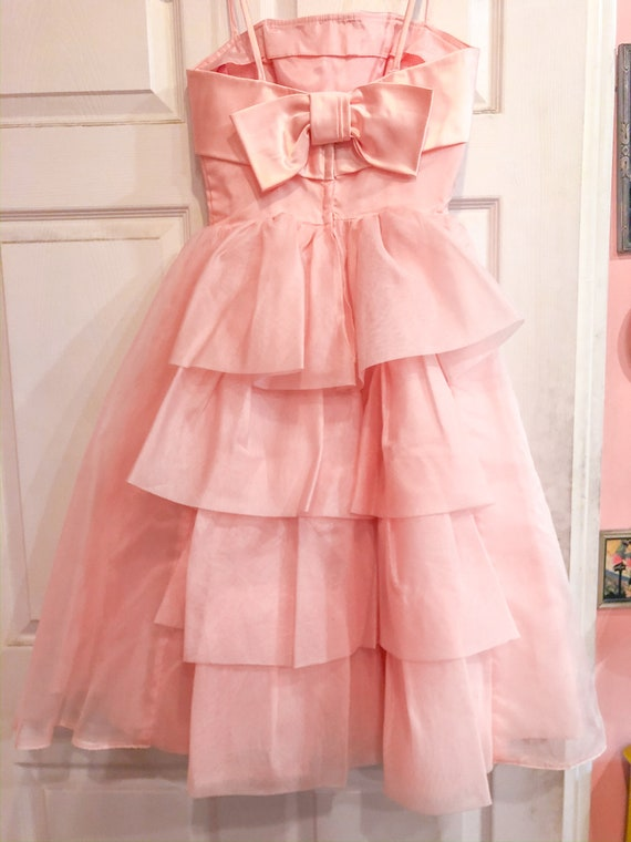 1950's Pink Party Prom Dress - image 4