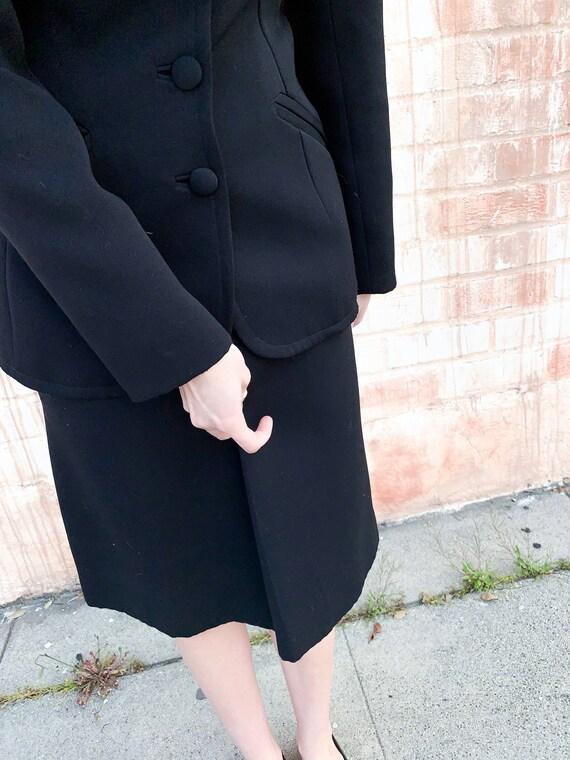 1970's Lilli Ann Black Knit Suit - image 4